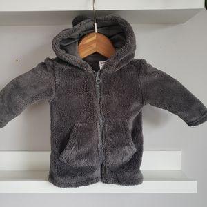 George 3-6M Fleece Baby Hoodie Jacket Ears